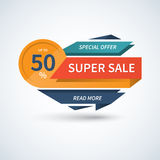 Super Sale banner. Vector template. Super Sale banner. Sale vector template. Sale label. Sale badge. Sale tag. Sale sticker. Super Sale and special offer concept Stock Photo