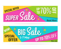Super Sale and Big Sale Banners Stock Photo