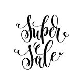 Super sale black and white hand lettering inscription to black f Stock Photo