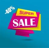 Super sale bubble banner - vibrant colors Royalty Free Stock Image