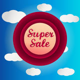 Super sale circle label Royalty Free Stock Images