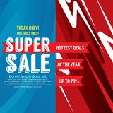 Super Sale Colorful Promotional Banner Vector. Illustration Stock Photo