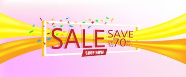 Super sale concept, Discount save up to 70% off. Vector illustration design. EPS10 Stock Photography