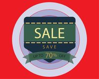 Super sale concept, Special offer at discount up to 70% off. Vector illustration design. EPS10 Royalty Free Stock Image