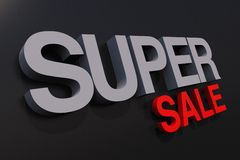 Super Sale 3D Slogan Royalty Free Stock Photo