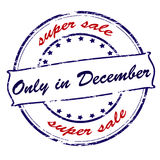 Super sale only in December Royalty Free Stock Image