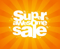 Super sale design template. Royalty Free Stock Photography