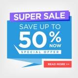 Super Sale Digital Sign Stock Photo