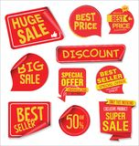 Super Sale discount labels tags and stickers collection Royalty Free Stock Image