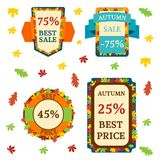 Super sale extra bonus autumn banners text label business shopping internet promotion discount offer vector illustration stock illustration