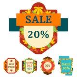 Super sale extra bonus autumn banners text label business shopping internet promotion discount offer vector illustration. Super sale autumn extra bonus leaf stock illustration