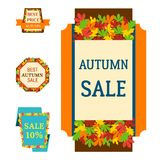 Super sale extra bonus autumn banners text label business shopping royalty free illustration