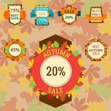 Super sale extra bonus autumn banners text label business royalty free illustration