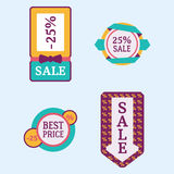 Super sale extra bonus banners text in color drawn label business shopping internet promotion vector illustration vector illustration