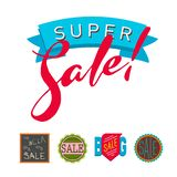 Super sale extra bonus banners text in color drawn label business shopping internet promotion illustration. Super sale extra bonus banners text in color drawn stock illustration