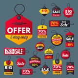 Super sale extra bonus red banners text label business shopping internet promotion discount offer vector illustration vector illustration