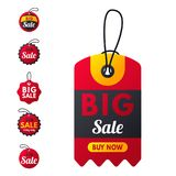 Super sale extra bonus red banners text label business shopping internet promotion discount offer vector illustration stock illustration