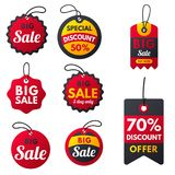 Super sale extra bonus red banners text label business shopping internet promotion discount offer vector illustration royalty free illustration