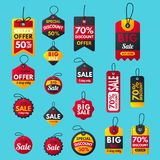 Super sale extra bonus red banners text label business royalty free illustration