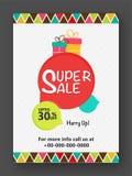 Super Sale Flyer, Banner, Pamphlet or Poster. Royalty Free Stock Image