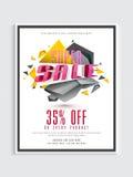 Super Sale Flyer or Pamphlet. Stock Photos