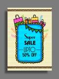 Super Sale Flyer, Poster or Banner design. Stock Photography