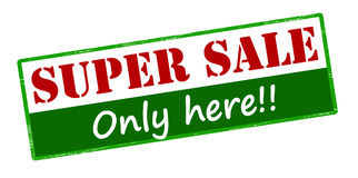Super sale only here Stock Images
