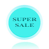 SUPER SALE icon or symbol image concept design with business for Royalty Free Stock Images