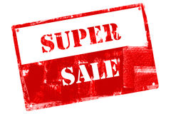 Super Sale, illustrated with grunge textures Royalty Free Stock Images