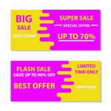 Super sale illustration marketing season holiday. Offer banner special discount price vector. Mega label shopping symbol abstract. Background. Hot purchase Stock Illustration