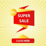 Super sale illustration marketing season holiday. Offer banner special discount price vector. Mega label shopping symbol abstract. Background. Hot purchase Vector Illustration