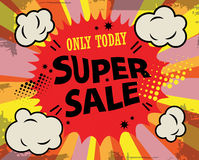 Super sale label Stock Photography