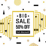 Super Sale modern banner in the Memphis style. Template Sale. Big Sale. Royalty Free Stock Photo