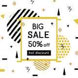 Super Sale modern banner in the Memphis style. Template Sale. Big Sale. Special offer. Up to 50 interest discount Stock Photos