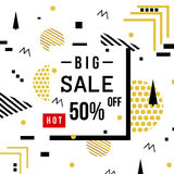 Super Sale modern banner in the Memphis style. Template Sale. Big Sale. Special offer. Up to 50 interest discount Royalty Free Stock Photo
