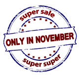 Super sale only in November Stock Photos