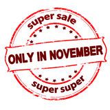 Super sale only in November Royalty Free Stock Images