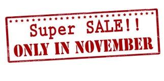 Super sale only in November Stock Image