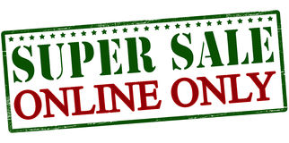 Super sale online only Royalty Free Stock Images