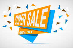 Super Sale paper banner Stock Photography