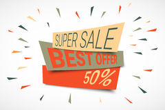 Super Sale paper banner Royalty Free Stock Photo