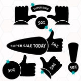 Super Sale paper banner. Sale background. Royalty Free Stock Images