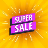 Special offer super sale bright banner Stock Photo
