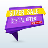 Super Sale Poster, Banner or Flyer design. Stock Image