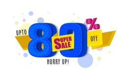 Super Sale Poster, Banner or Flyer Design. Royalty Free Stock Photo