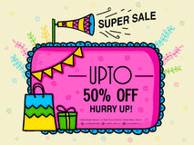Super Sale Poster or Banner. Stock Images