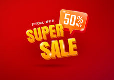 Super Sale poster Royalty Free Stock Photos