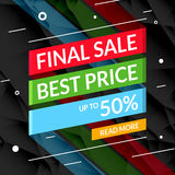 Super Sale poster text on ribbon. Sale promotional background poster for store shop market. Super Sale poster on ribbon. Sale promotional background poster for Royalty Free Stock Images