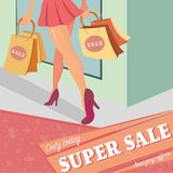Super sale poster. Stock Photography