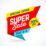 Super sale special offer banner Stock Photos